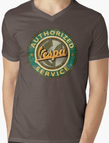 Vespa Authorized service Mens V-Neck T-Shirt