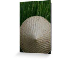 Rice Hat Greeting Card
