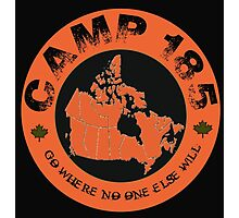 Camp 185 Canada Map Tee Photographic Print
