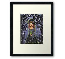 Witch Illustration Framed Print