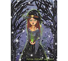 Witch Illustration Photographic Print
