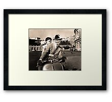 FREDDIE KRUEGER IN ROMAN HOLIDAY Framed Print