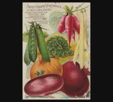 Vintage poster - Seven Grand Vegetables Baby Tee