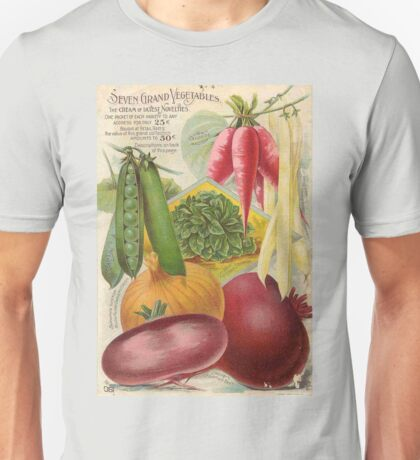 Vintage poster - Seven Grand Vegetables Unisex T-Shirt