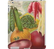 Vintage poster - Seven Grand Vegetables iPad Case/Skin