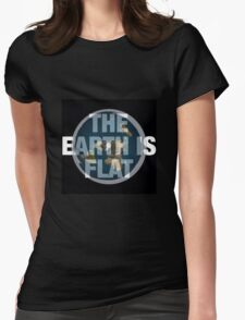 Flat earth,the real truth Womens Fitted T-Shirt