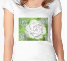 Painted Gardenia Women's Fitted Scoop T-Shirt