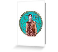 .10th Doctor. Greeting Card