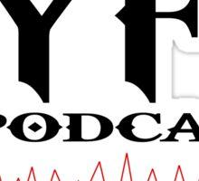 FYFC Podcasts Black Logo Swag Sticker
