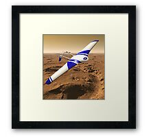 NASA ARES Drone Flying Over Mars Framed Print