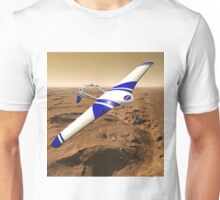 NASA ARES Drone Flying Over Mars Unisex T-Shirt