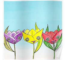 """Oro?"" Series Tulips  Poster"