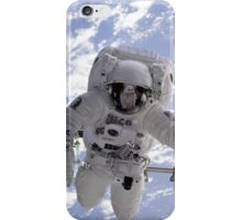 Astronaut Above Earth During Spacewalk iPhone Case/Skin
