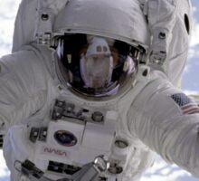 Astronaut Above Earth During Spacewalk Sticker