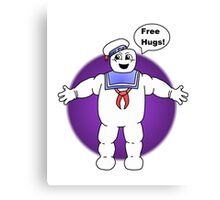"""Free Hugs From The Marshmallow Man"" Canvas Print"