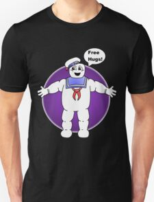 """Free Hugs From The Marshmallow Man"" T-Shirt"