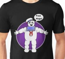 """Free Hugs From The Marshmallow Man"" Unisex T-Shirt"