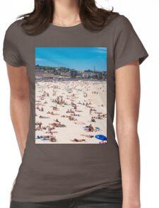 Bondi Beach sun worshippers Womens Fitted T-Shirt