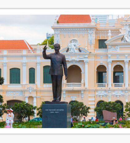 Statue of Ho Chi Minh at City Hall Saigon Sticker