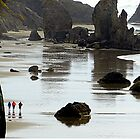 Low Tide...The Needles...Bandon Beach, Oregon by Diane Arndt
