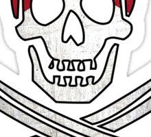 Florida flag skull crossbones Sticker