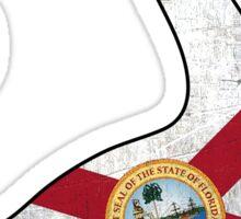 Florida flag dinosaur outline Sticker