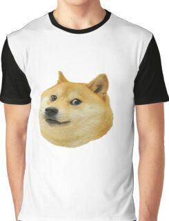 Doge Head Design Graphic T-Shirt