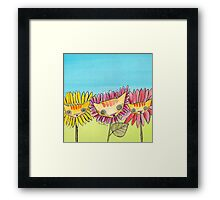 """Oro?"" Series Sunflowers Framed Print"