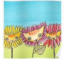 """Oro?"" Series Sunflowers Poster"