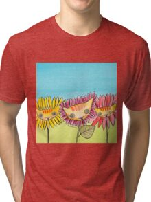 """Oro?"" Series Sunflowers Tri-blend T-Shirt"
