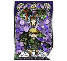 Twilight Princess Stained Glass, Purple Version Poster