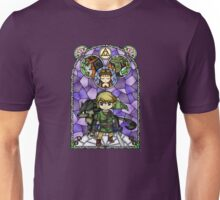 Twilight Princess Stained Glass, Purple Version Unisex T-Shirt