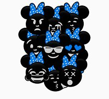 Minnie Emoji's Assortment - Blue Womens Fitted T-Shirt