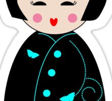 Japanese Geisha Doll Sticker