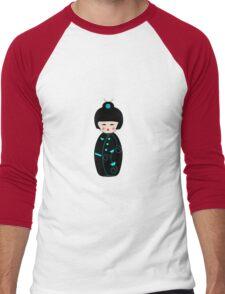 Japanese Geisha Doll Men's Baseball ¾ T-Shirt