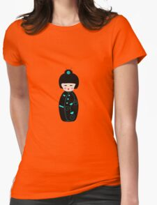 Japanese Geisha Doll Womens Fitted T-Shirt