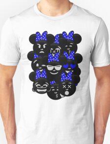 Minnie Emoji's Assortment - Navy T-Shirt