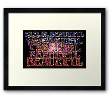 Retro-Feelin' Beautiful Framed Print