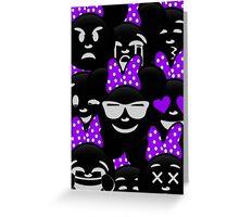 Minnie Emoji's Assortment - Purple Greeting Card