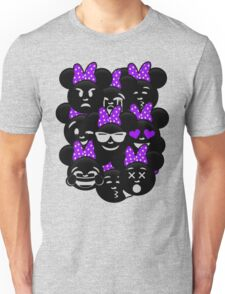 Minnie Emoji's Assortment - Purple Unisex T-Shirt