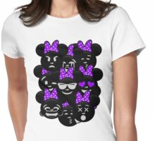 Minnie Emoji's Assortment - Purple Womens Fitted T-Shirt