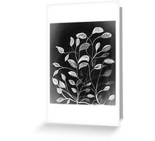 Red and Green Leaves! Monochrome Black and White and Grey Greeting Card