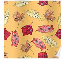 """Oro?"" Series Autumn Leaves Poster"