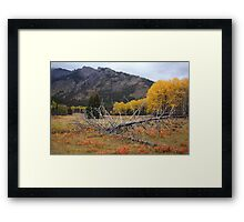 Autumnal Banff Framed Print
