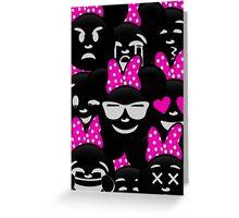 Minnie Emoji's Assortment - Pink Greeting Card