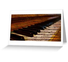 Vintage Musical Notes and Piano Greeting Card