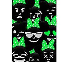 Minnie Emoji's Assortment - Green Photographic Print