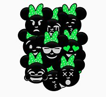 Minnie Emoji's Assortment - Green Womens Fitted T-Shirt