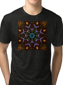 The Wheel of Life - Mandala Tri-blend T-Shirt