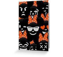 Minnie Emoji's Assortment - Orange Greeting Card